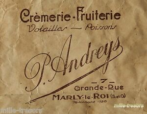 Ancien SACHET : CREMERIE - FRUITERIE - VOLAILLES - POISSONS P. ANDREYS  à MARLY