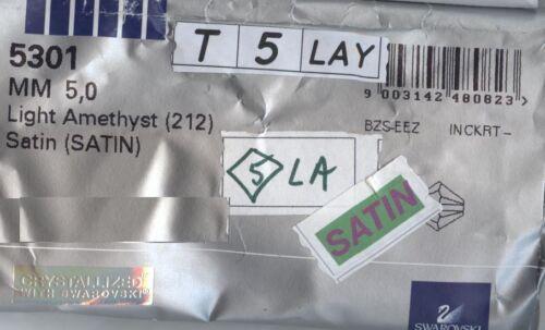 T5 5301  LAY *** 20 toupies cristal Swarovski 5 mm LIGHT AMETHYST SATIN