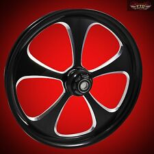 "Harley Davidson 32"" inch Custom Front Wheel ""The 5 Blade X2"" Black Contrast"