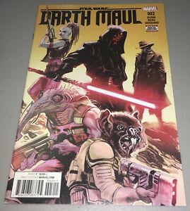 Star Wars Darth Maul #3 (2017) Marvel 1st Cover App Appearance Cad Bane