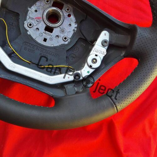 LENKRAD für Mercedes für Vito 638 mit grauem Leder neubezogen Daumenauflagen.