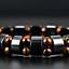 thumbnail 3 - Double Hematite Tiger's Eye Natural Bracelets Men Women Charm Bracelets Jewelry
