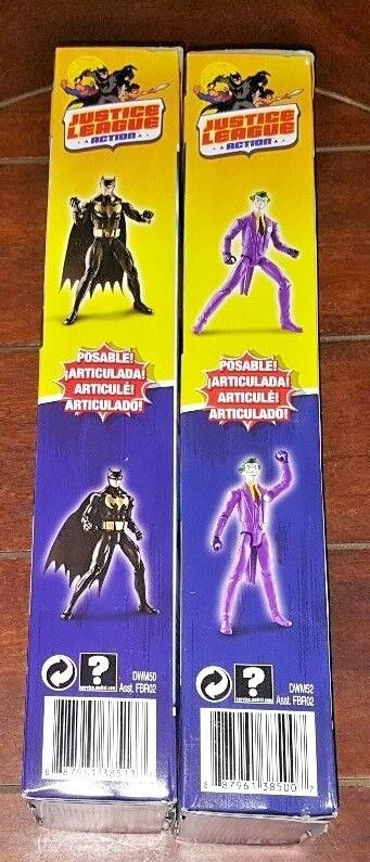 DC Justice League League League Action  THE JOKER & STEALTH SHOT BATMAN 12  Action Figures  292fa2