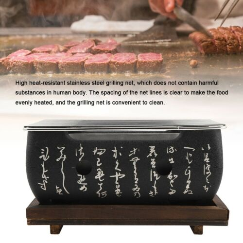 Japanese Korean Style Food BBQ Grill Charcoal Barbecue Alcohol Stove Cooker