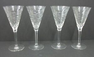 Stunning-Crystal-Barware-Stemmed-Toasting-Flutes-Set-of-4-Estate-Glasses