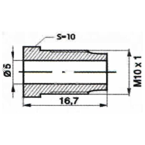 M12x1 50cm WP-441 Bremsleitung Bremsrohr Kupfer Verschraubung M10x1