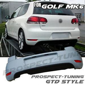 Details about NEW VW GOLF MK6 GTD STYLE REAR BUMPER & DIFFUSER PP ABS  VOLKSWAGEN