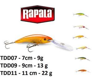 Rapala-Deep-Tail-Dancer-Deep-Diving-Fishing-Lure-7cm-11cm-9g-22g-Various-Colours