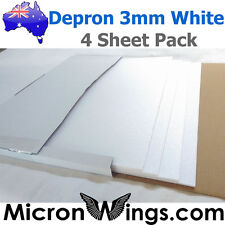 Depron Foam Pack - 3mm White (box of four sheets)