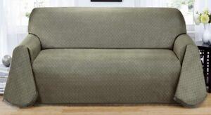 Matrix Non Slip Throw Couch Sofa Cover Blue Comes