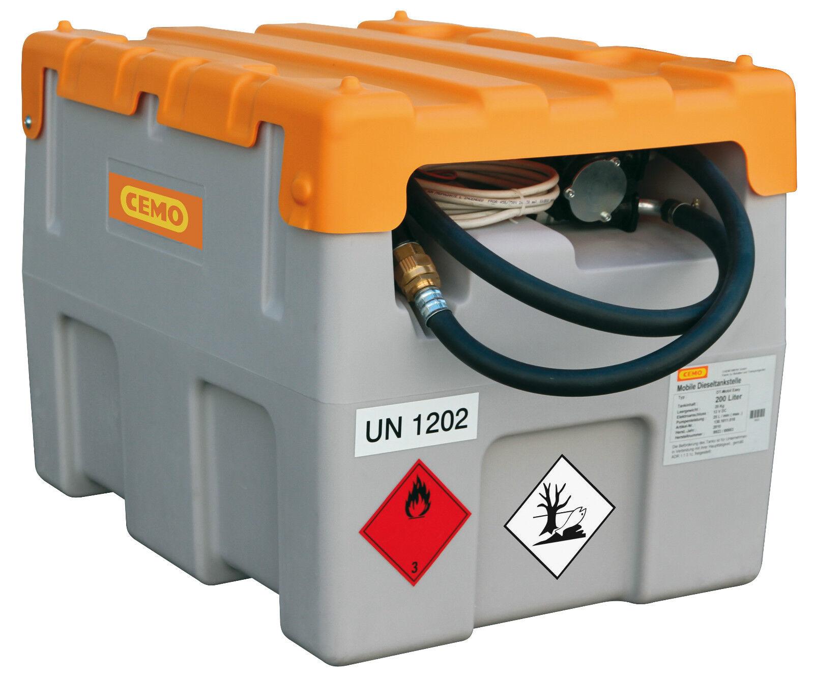 CEMO Dieseltank /  Dieseltankstelle 200 Liter Liter Liter mit Li-Ion Akkusystem mit Akku bac21b