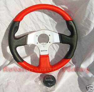 VOlante-Sportivo-SPORTLINE-Nero-amp-Rosso-per-FIAT-500-e-FIAT-126
