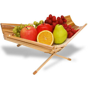 Chef-Collection-Foldable-Bamboo-Fruit-Produce-Basket-Bowl-100-Eco-Friendly-New