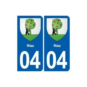 04 Riez Blason Ville Autocollant Plaque Stickers - Angles : Arrondis