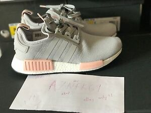 5836d8c600f56 Adidas NMD R1 Runner Grey Vapour Pink Light Onix Offspring BY3058 ...