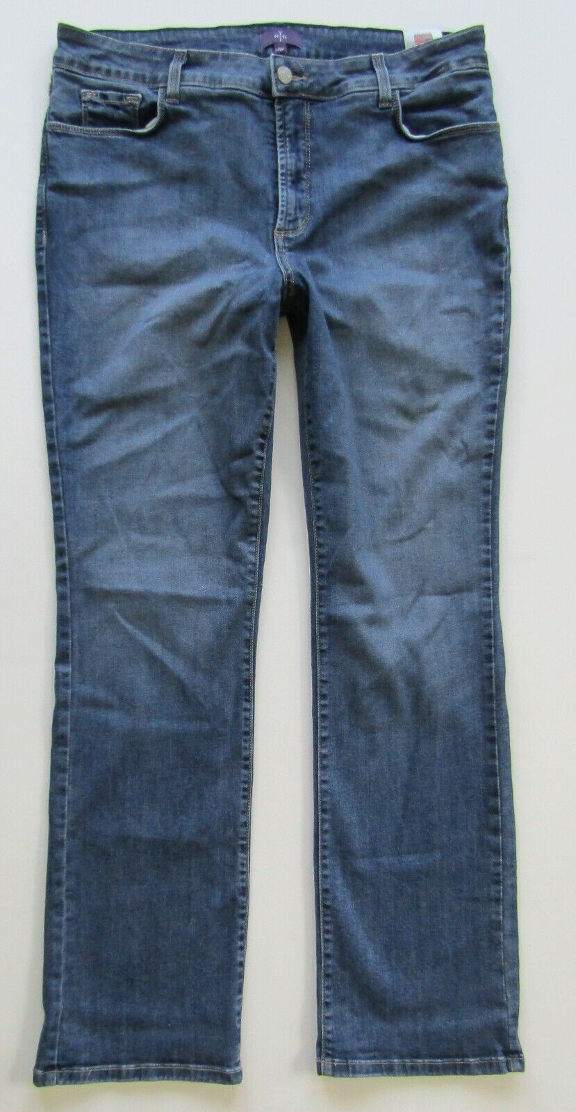 NYDJ Not Your Daughters Jeans Straight Leg Stretch, Medium Wash - Size 14 W