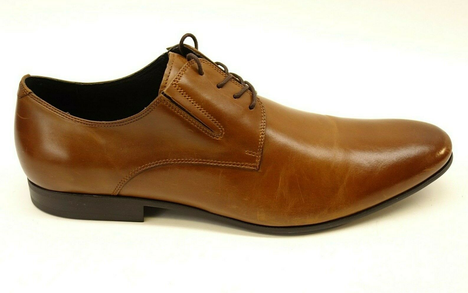 New Kenneth Cole New York Mens Brown Cognac Mix-Er Comfortable Oxfords US 12