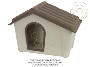 Kennel Kennel Resin Pour Chiens Cm 79 X 60.8 H Taupe Couleur Beige