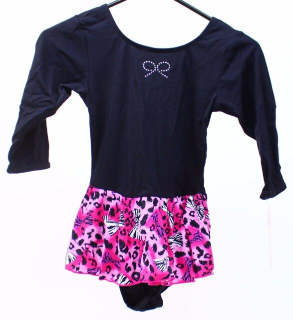 91cc5278a727 Buy Jacques Moret Girls Black Pink Skirt Bows Dance Leotards ...