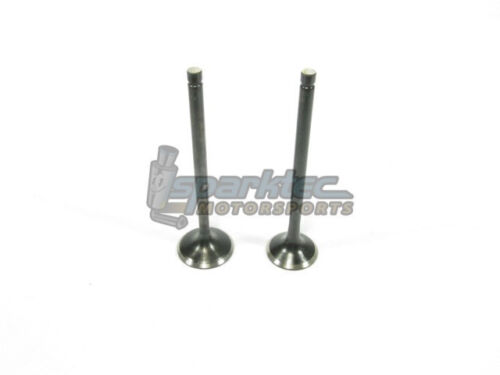 Supertech SS Black Nitrided Engine Valves Set STD Size Acura Honda B18A B18B B20