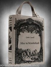 Restyle Buch Tasche Alice in Wonderland Kunst-Leder Handtasche Gothic Book Bag