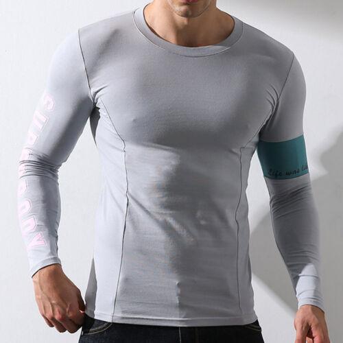 Men Thermal Underwear Tops Winter Warm Slim Fit Long Sleeve T-Shirts Tight Shirt