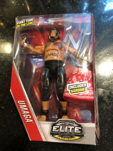 WWE Elite Umaga Series 40 Flashback First Time in the Line Figure New WEAR CARD