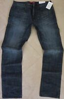 Guess Slim Straight Leg Jeans Men's Size 36 X 32 Ultra Slim Dark Distressed Wash