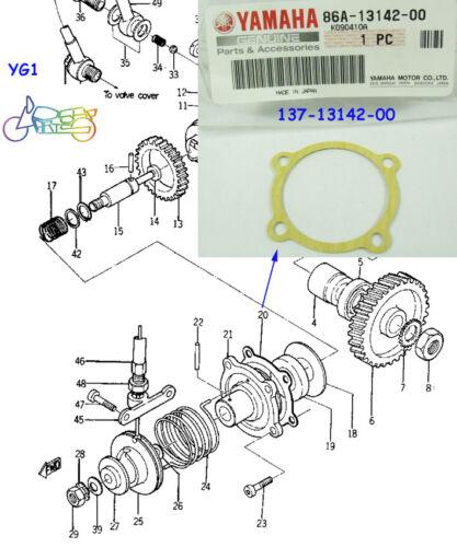 Yamaha YG1 YL1 YJ1 YJ2 YAS1 YAS2 YAS3 Oil Pump Gasket NOS 86A-13142-00 132-13142