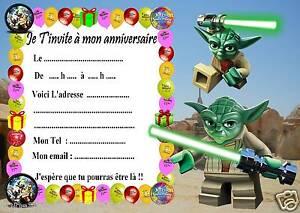 5 Cartes Invitation Anniversaire Lego Star Wars 05 D Autres En Vente