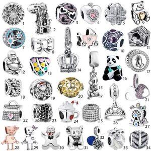 Beauty-s925-Silver-Charms-Pendant-Bead-For-European-Argento-Bracciali-Bracelets