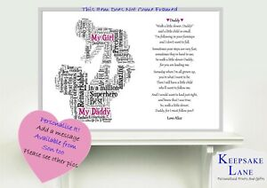 Details about Personalised Daughter Dad Poem Fathers Day Birthday Christmas  Gift Word Art