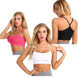 e6dbe5417a941 Women Summer Tank Top Vest Blouse Spaghetti Strap Bra Crop Tops ...