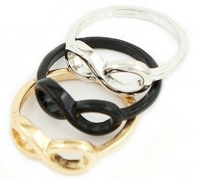 ABOVE THE KNUCKLE RING INFINITY RING MIDI RING GOLD SILVER BLACK BOW RING