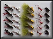 25 nuovi Schiuma mosche a mano legato trota Dry pesca Mosche Fly for MULINELLO CANNA linea x bn
