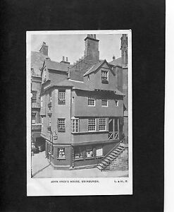 Postcard-C1930-039-s-View-Of-John-Knox-039-s-House-Edinburgh-Scotland