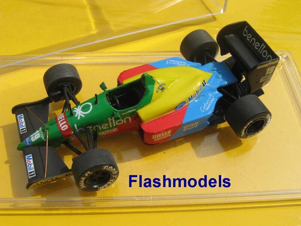 1 43 BENETTON FORD b188 1988 NANNINI Monaco GP Tameo handbuilt MODELCAR
