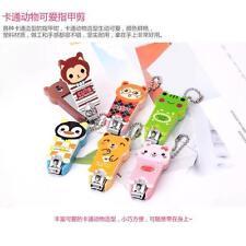 Kawaii Animals Cat Bear Hand Nails Cutter Clipper Keychain Colors Girl Gift Hot#