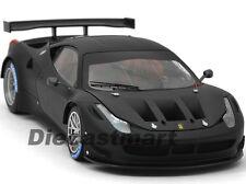 ELITE FERRARI 458 ITALIA GT2 MATT BLACK 1:18 DIECAST MODEL CAR HOTWHEELS BCK09
