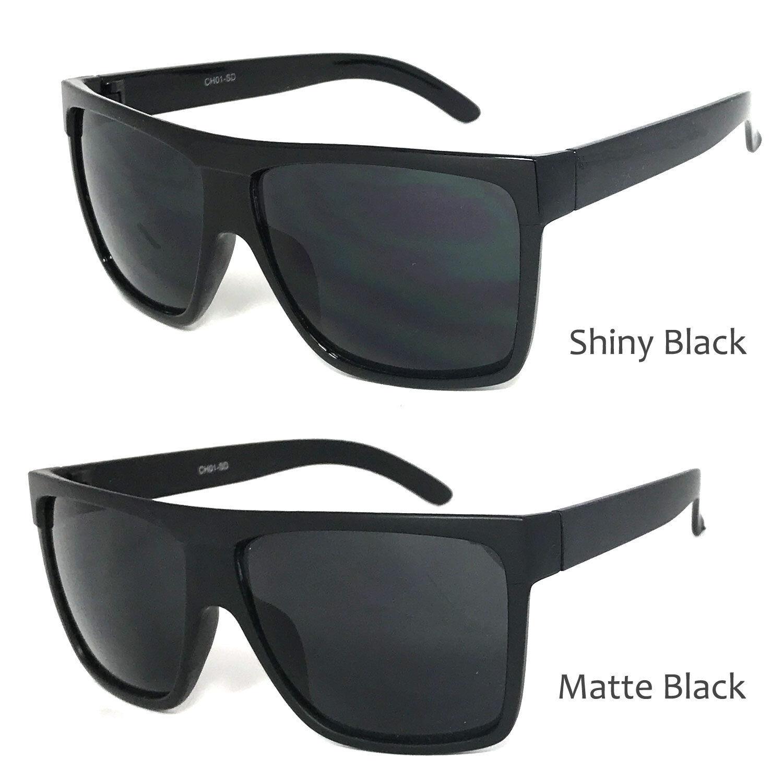 0cf1325c24 Details about 1 or 2 Pair Retro Large Square Aviator Flat Top Sunglasses  Mens Womens Dark Lens