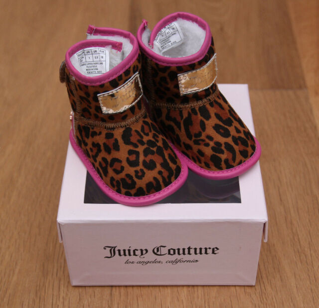 Juicy Couture Baby Girl Crib Shoes Baby San Diego Pink Leopard