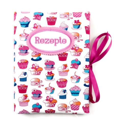 innen 20 Sichthüllen Cupcake weiß-pink Rezeptmappe DIN A5 bettina bruder®