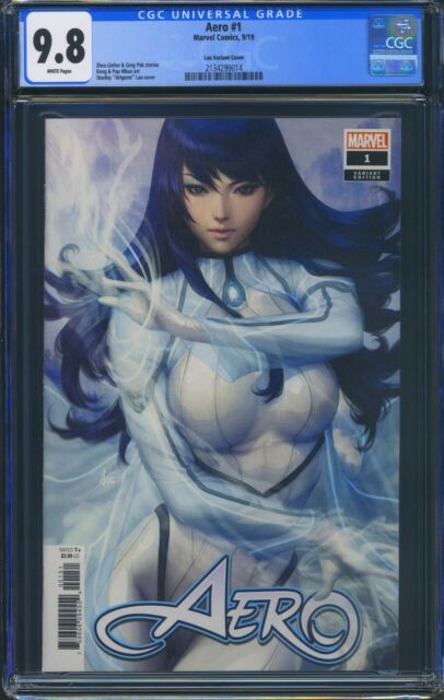 Aero 1 (Marvel) CGC 9.8 White Pages Premier issue Artgerm Variant