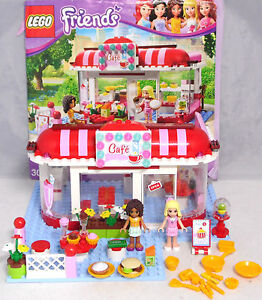 lego friends 3061 cafe andrea marie hamburger kuchen geld geschirr komplett ba ebay. Black Bedroom Furniture Sets. Home Design Ideas