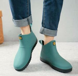 mens high top casual wellies rain ankle boots waterproof