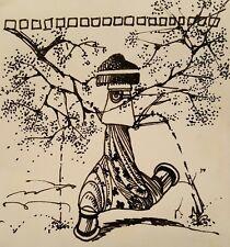 VINTAGE 1971 MID CENTURY MOD ILLUSTRATION FINE ART LISTED ARTIST EVANSTON IL
