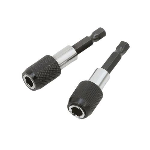 """1//4/"""" Impact Drive Shank Chuck Quick Connect Adapter For Hex Bit Drill Heads Q"""