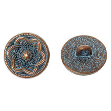 10 pcs Metal Shank Button 15 mm Antique Copper Spray Painted Single Hole,