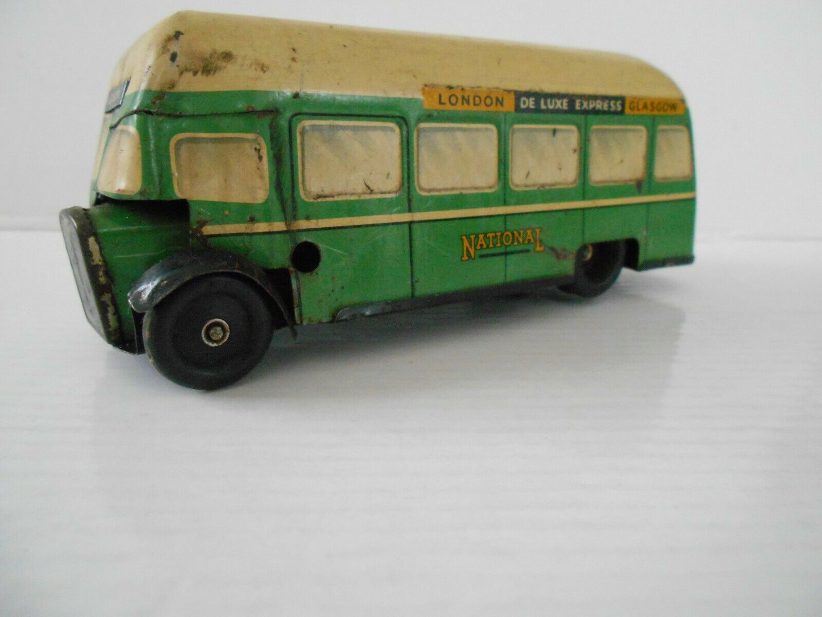 CHAD VALLEY CV 10073 - SINGLE DECK TINPLATE BUS IN SCARCE GREEN CREAM COLOURS
