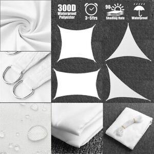 Sonnensegel-Sonnenschutz-Sonnendach-Wasserdicht-96-UV-Schutz-Beschattung-Weiss